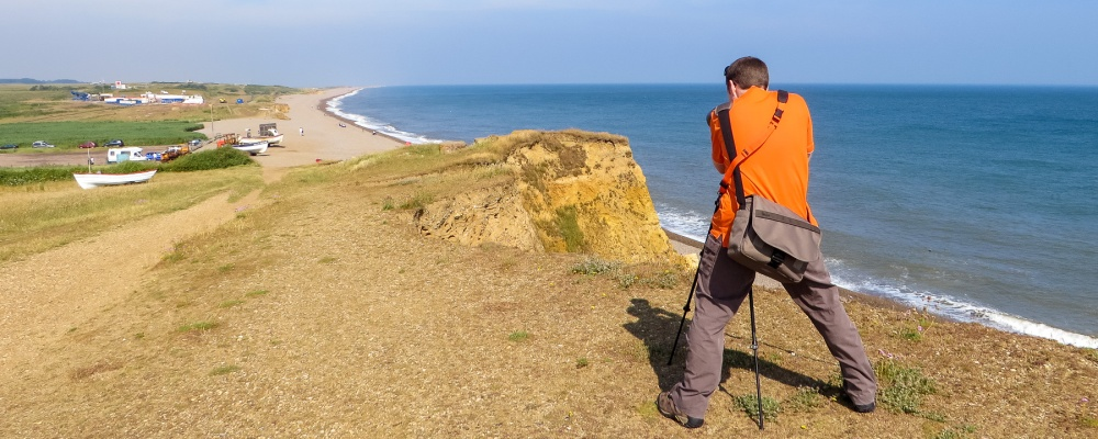 Photographing fledging sand martins on the Norfolk coast.