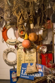 A collection of fishing and lifesaving equipment. Photos of the historic lifeboats and fishing boats collection in Sheringham museum. (http://www.sheringhammuseum.co.uk)