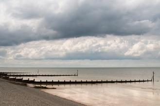 Groynes along Sheringham beach.