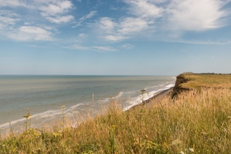 View along the coast from the top of the cliffs at Sheringham Park. (Photos from National Trust Sheringham Park.)
