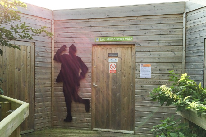 The Eric Morecambe Hide at RSPB Leighton Moss.