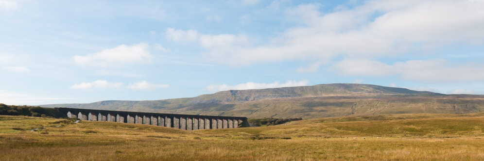Ribblehead Viaduct with Whernside in the background.