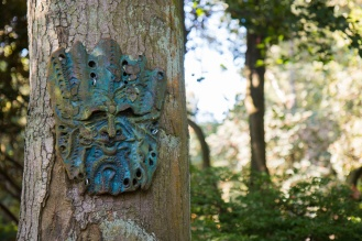 Metal sculpture of a tree spirit in the Woodland Garden. Photos from RHS Harlow Carr in North Yorkshire.