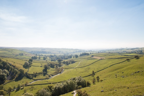 The valley below Malham Cove, with Malham Beck meandering along the bottom. Photos taken at National Trust Malham Cove.