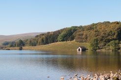 One of the boat houses opening onto the tarn. Photos from Malham Tarn in North Yorkshire.