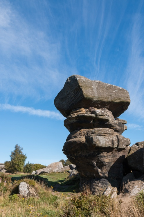 Photos of the rock formations at National Trust Brimham Rocks in North Yorkshire.