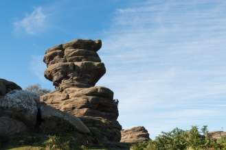 The round bottomed rock formation on the top here is called The Flowerpot. Photos of the rock formations at National Trust Brimham Rocks in North Yorkshire.
