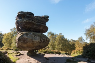 Probably the most famous of the rock formations, this one is called Idol. Photos of the rock formations at National Trust Brimham Rocks in North Yorkshire.