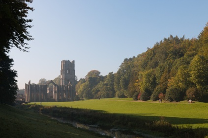 Autumn colours in the trees surrounding Fountains Abbey. Photos from National Trust Fountains Abbey and Studley Royal Water Garden, in North Yorkshire.