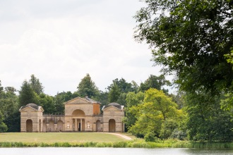 The Temple of Venus across the Eleven Acre Lake. Photos from a trip to National Trust Stowe in July 2017.