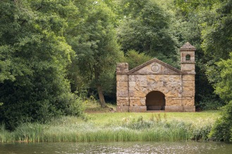 The small Hermitage on the side of the Eleven Acre Lake. Photos from a trip to National Trust Stowe in July 2017.