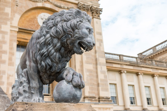 One of the two lions either side of the Stowe house steps, the level of detail is quite impressive. Photos from a trip to National Trust Stowe in July 2017.