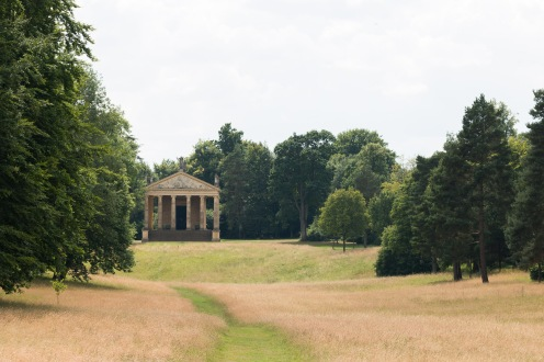 The Temple of Concord and Victory from the other end of the Grecian Valley. Photos from a trip to National Trust Stowe in July 2017.