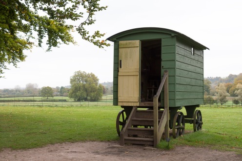 The small shepherd's hut in the grounds of Mottisfont, in Hampshire.