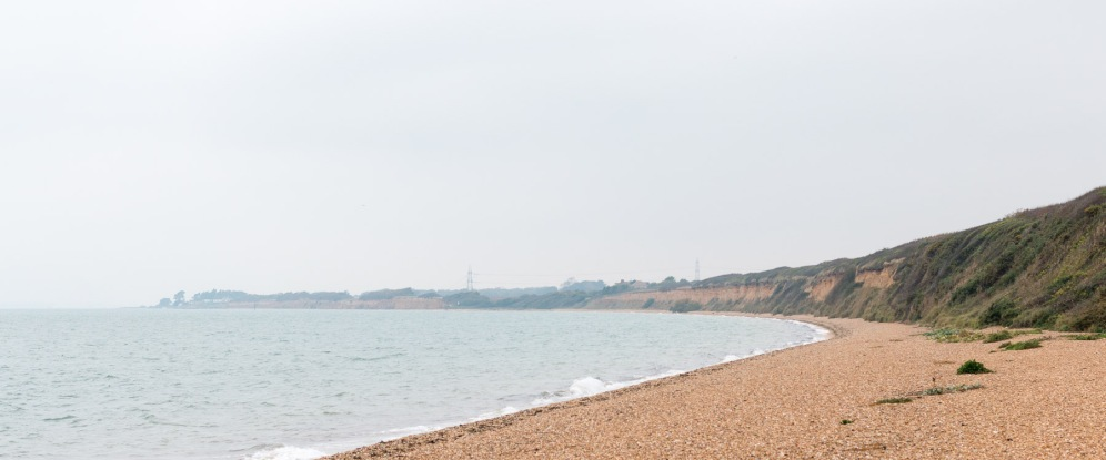 Looking along the coast in Hampshire, from Meon Shore to Solent Breezes in the distance.